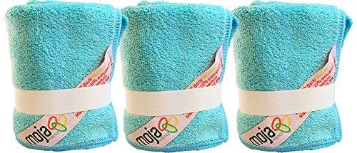 Plush Microfiber Body/Face Cloth - Dual Action (exfoliate/cleanse): 3 Pk - 12
