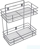 DD RETAILS Double Layer Wall Mounted Kitchen Rack Kitchen Accessories Organizer Stainless Steel Wall Shelf (Silver)