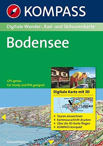 Bodensee: Digitale Wander-, Rad- und Skitourenkarte. GPS-genau. (KOMPASS Digitale Karten, Band 4001)