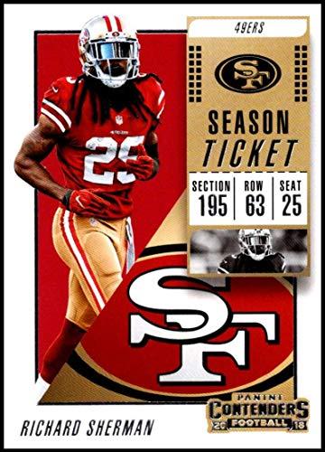 2018 Panini Contenders Season Tickets Football #14 Richard Sherman San Francisco 49ers Official NFL Trading Card