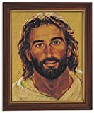 jesus picture - Gerffert Collection Jesus Christ Framed Portrait Print, 13 Inch (Wood Tone Finish Frame)