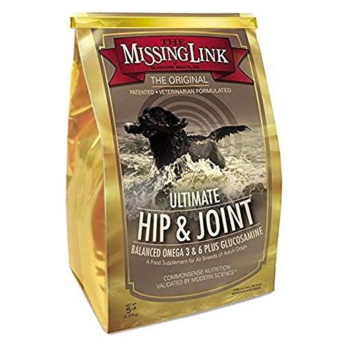 The Missing Link - Original All Natural Superfood Dog Supplement- Balanced Omega 3 & 6 Plus Glucosamine to support Mobility and Digestive Health – Hip & Joint Formula – 5 lbs.