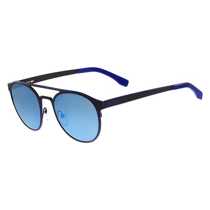 Lacoste Gafas de Sol L172S-001 (53 mm) Negro/Azul Royal ...