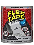 Flex Tape Rubberized Waterproof Tape, 4'' x 5', Gray