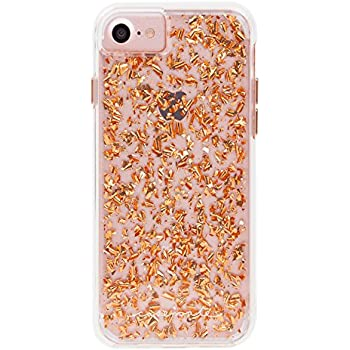 Case-Mate iPhone 7 Case - KARAT - Metallic Rose Gold Highlights - Slim Protective Design for Apple iPhone 7 and iPhone 6 - Rose Gold