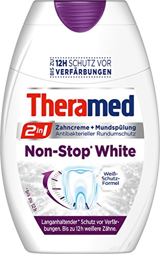 Theramed Zahncreme 2in1 Non-Stop White, 4er Pack (4 x 75 ml)