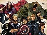 One Piece Meets Avengers Play Mat