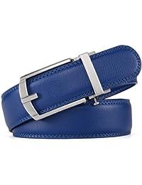 HW Zone belt for men Soft Leather Ratchet belt with color