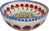 Polish Pottery XL Mixing, Pasta or Serving Bowl Poppy Field