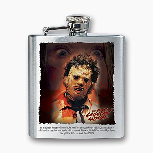 ICUP Texas Chainsaw Massacre - Leatherface Closeup 8oz. Stainless Steel -