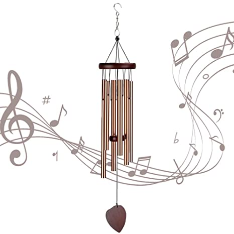 509e2ffcb Amazon.com : ZOUTOG Wind Chimes Outdoor, 29'' Handmade Wooden Chimes with 6  Metal Hollow Tubes & Hanging Hook, Outdoor Decor for Home/Yard/Patio/Garden  ...
