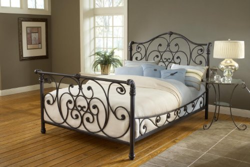 Hillsdale Furniture 1579BCKR Mandalay Bed Set with Side Rails, California King, Rustic Old - California Hillsdale