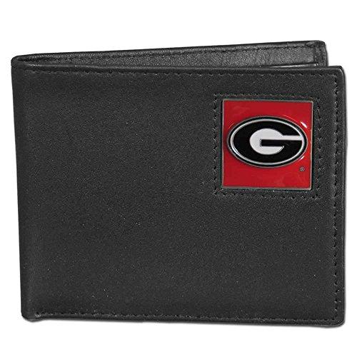 Siskiyou Georgia Bulldogs Bi-fold Leather Wallet