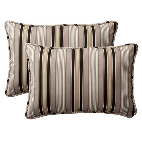 Pillow Perfect Decorative Striped Rectangle