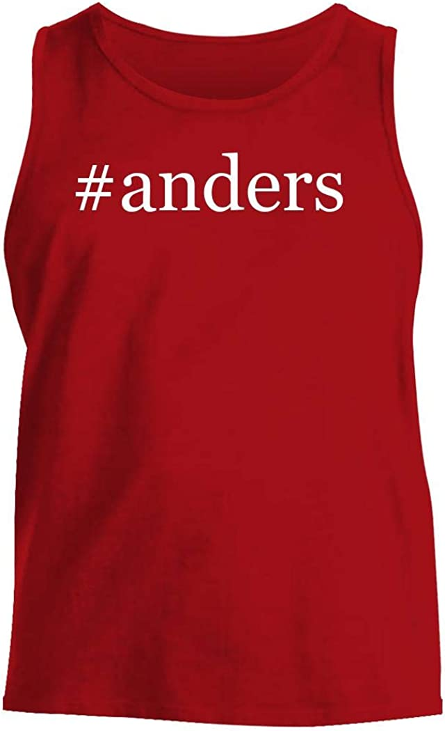 #Anders - Men'S Hashtag Comfortable Tank Top, Red, Large