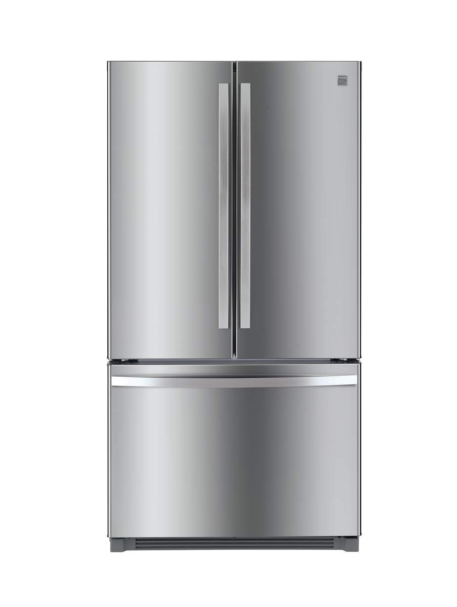 Kenmore 73025 26.1 cu. ft. Non-Dispense French Door Refrigerator in Stainless Steel with Active Finish, includes delivery and hookup