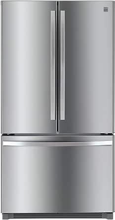 Kenmore 4673025 Alexa Capabilities 04673025 26.1 cu.ft. Non-Dispense French Door Refrigerator with Active Finish, cu. ft, Fingerprint Resistant Stainless Steel