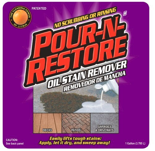 Pour-N-Restore Oil Stain Remover Citrus Orange Fragrance Bottle Gal