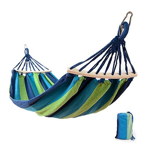 Easy Eagle Hängematten Anti-Rollover Reise Camping Segeltuch Hängematte Draussen Regenbogen Stripes Swing Send Tie Seil + Tasche