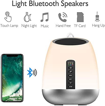 Night Light Bluetooth Speakers,table lampTouch Control