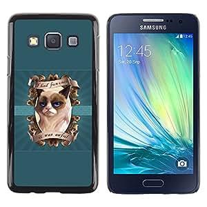 LECELL--Funda protectora / Cubierta / Piel For Samsung Galaxy A3 -- Me divertí vez gruñón del gatito --