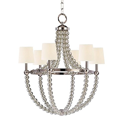 Hudson Valley Lighting 3116-PN-WS Danville 6-Light Chandelier, 3 3 36.5