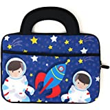 Blue Joy Kids 10 Inch Tablet Case Space Astronaut Soft Neoprene Carrying Bag Sleeve Cover for LeapPads Compatible with Ultimate Device (10 inch, Astronaut)