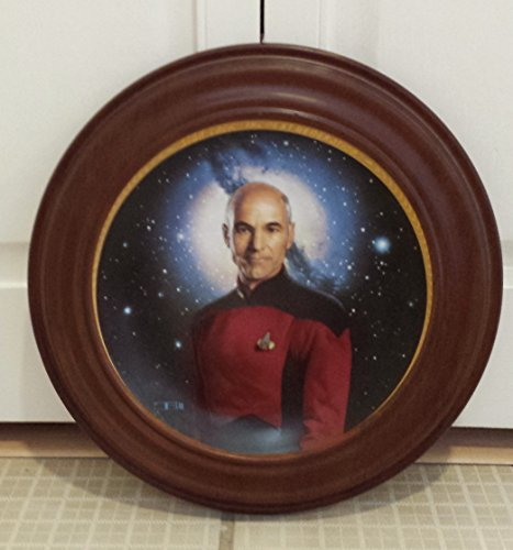 Captain Jean-Luc Picard Collector Plate from the Star Trek: The Next Generation Collection by Thomas Blackshear (Collector Collection Hamilton Plate)