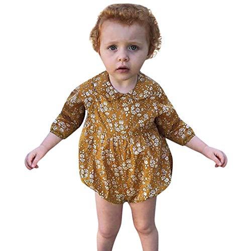 9348cd416625b Zoiearl 人気 新生児 ロンパース カバーオール 女の子 秋冬春 長袖 赤ちゃん服 ベビー服 フリル 可愛い 新生児服