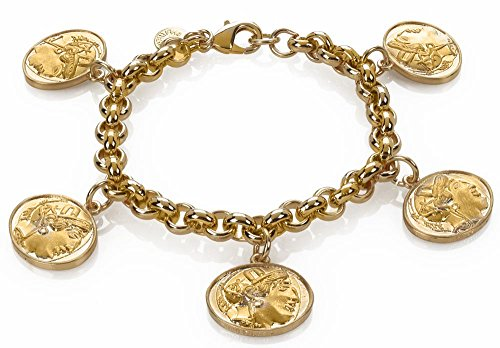 SUMMER Sale - Athena Owl 5-charm Bracelet. From Our Greek Museum Collection. by ILANET Museum Reproductions