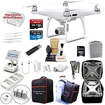 DJI Phantom 4 PRO Drone Quadcopter Bundle Kit with 4K Professional Camera Gimbal and MUST HAVE Accessories
