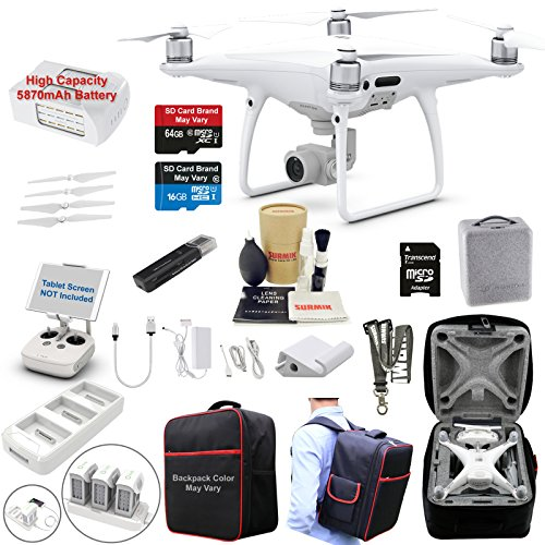 DJI Phantom 4 PRO Drone Quadcopter Bundle Kit with 4K Professional Camera Gimbal and Must Have...