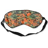 Orange Camo Camouflage Art Sleep Eyes Masks - Comfortable Sleeping Mask Eye Cover For Travelling Night Noon Nap Mediation Yoga