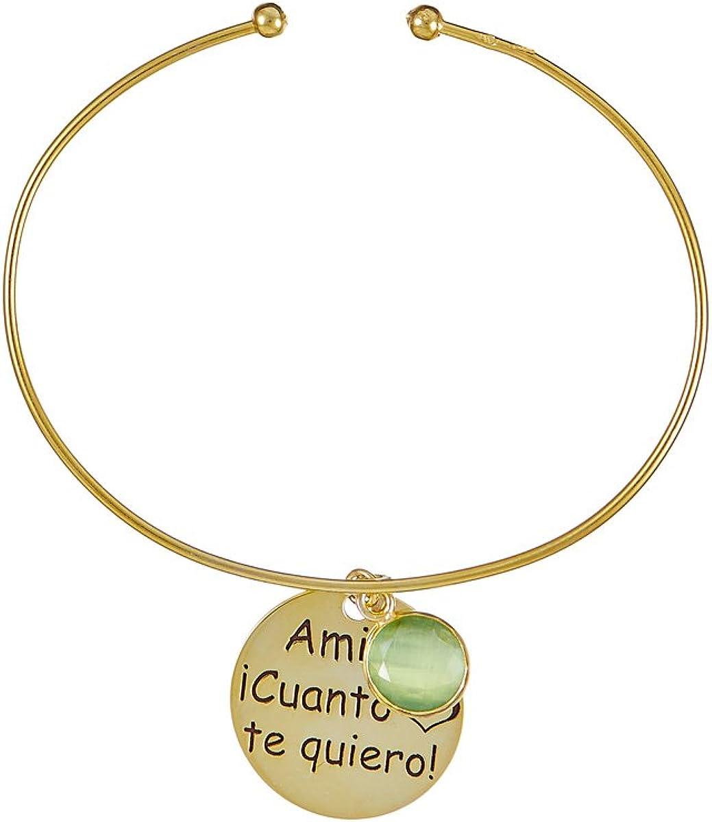 Córdoba Jewels | Pulsera en Plata de Ley 925 bañada en Oro con diseño Amiga ¡Cuanto Te Quiero!