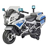 BMW Police Motorcycle in White/Light Blue (12V)