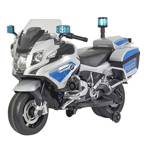 BMW Police Motorcycle in White/Light Blue (12V)