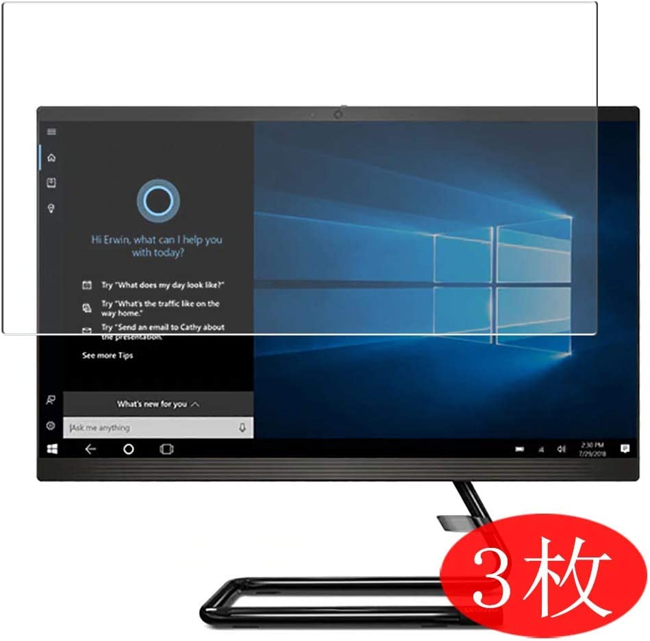 """【3 Pack】 Synvy Screen Protector for Lenovo ideacentre a340 aio 24"""" All in ONE TPU Flexible HD Film Protective Protectors [Not Tempered Glass]"""