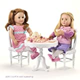 "Our Generation Tea Parlor Table And Chairs For 18"" Dolls"
