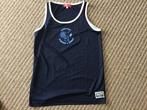 ?スヌーピースヌーピー バスケ ノースリーブ Tシャツ タンクトップ 2XS 紺