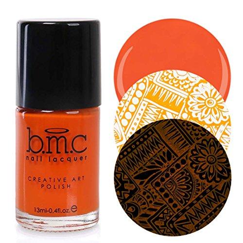 Maniology (formerly bmc) 2nd Gen Creative Nail Art Stamping Polishes - Essentials: Brights, Orange Burst -
