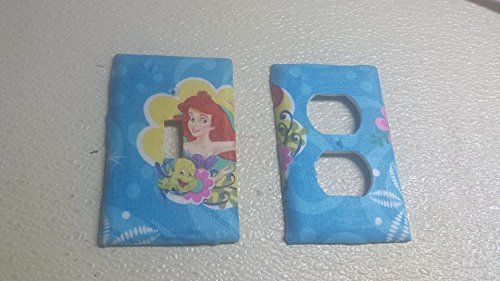 Little Mermaid Blue Outlet Switch Covers