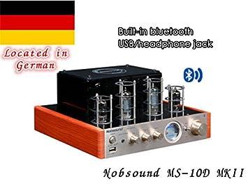 Amplificador de válvulas Nobsound MS-10D MKII con Bluetooth / USB / auriculares Verstärker HIFI