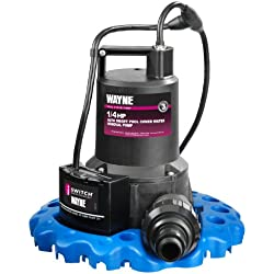 WAYNE 57729-WYNP WAPC250 1/4 HP Automatic ON/OFF Water Removal Pool Cover Pump
