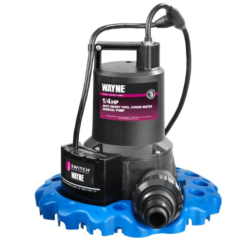 WAYNE 57729-WYNP WAPC250 1/4 HP Automatic ON/OFF Water Removal Pool Cover - Submersible Sump Pump Manual Gpm