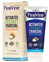 Activated Charcoal Teeth Whitening Toothpaste - Made in USA – REMOVES BAD BREATH and TOOTH STAINS - Best Natural Toothpaste for Herbal Decay Treatment - Mint flavor.