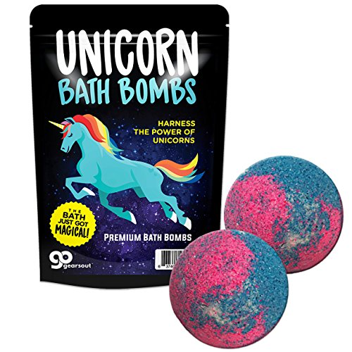 Unicorn Bath Bombs - Unicorn Bath Balls Funny Unicorn Gifts for Girls Unicorn Bath and Body Gifts for Women Pretty Bath Bombs Stocking Stuffers for Girls Fun White Elephant Ideas Secret Santa Gifts