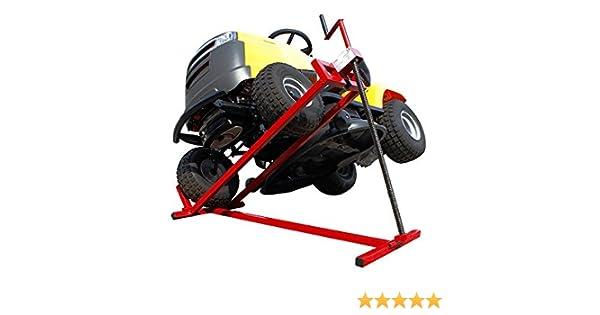 Sogi - Caballete elevador manual SL-TR para tractores cortacésped de hasta 400 Kg