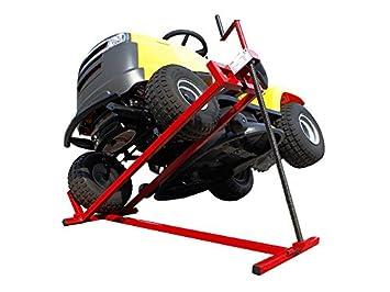 Sogi - Caballete elevador manual SL-TR para tractores cortacésped de hasta 400 Kg: Amazon.es: Coche y moto