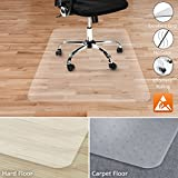Office Marshal Anti-Static Hard Floor Office Chair Mat - 100% Polycarbonate - 40'' x 48'' - Clear & High Strength - Performa Series - Multiple Sizes
