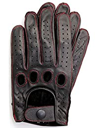 Riparo Genuine Leather Reverse Stitched Full-Finger Driving Gloves